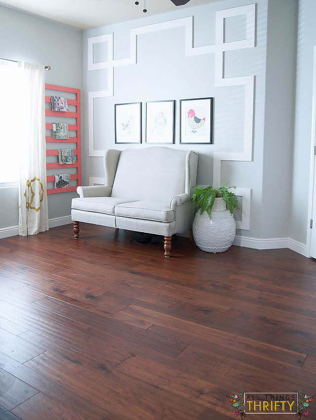 flooring reveal home legend barrett distressed hickory from the home depot all things thrifty - Home Legend Flooring