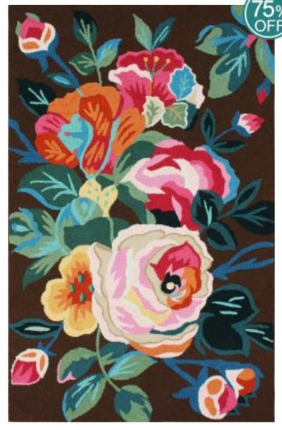 Bright floral and colorful rug for Bright floral area rugs
