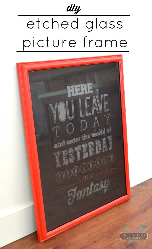 How To Etch Glass Etched Glass Picture Frame All Things Thrifty