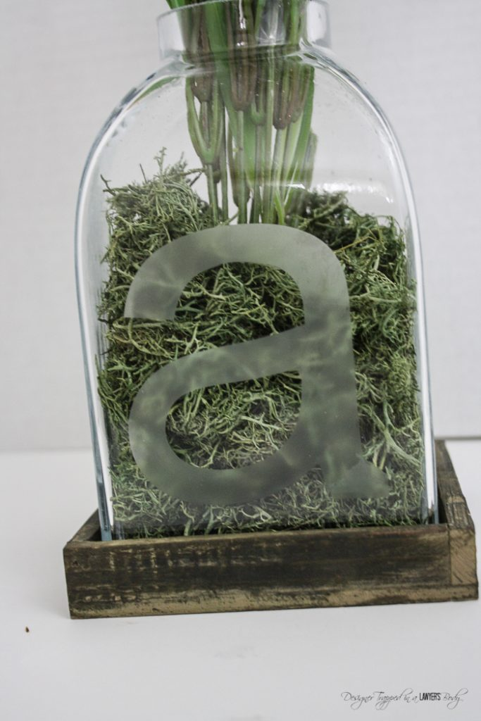 Diy glass etched vase for Things to make out of glass