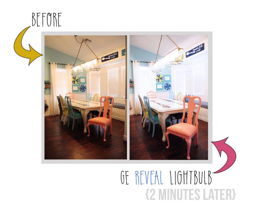 GE Reveal Light Bulb makeover 2