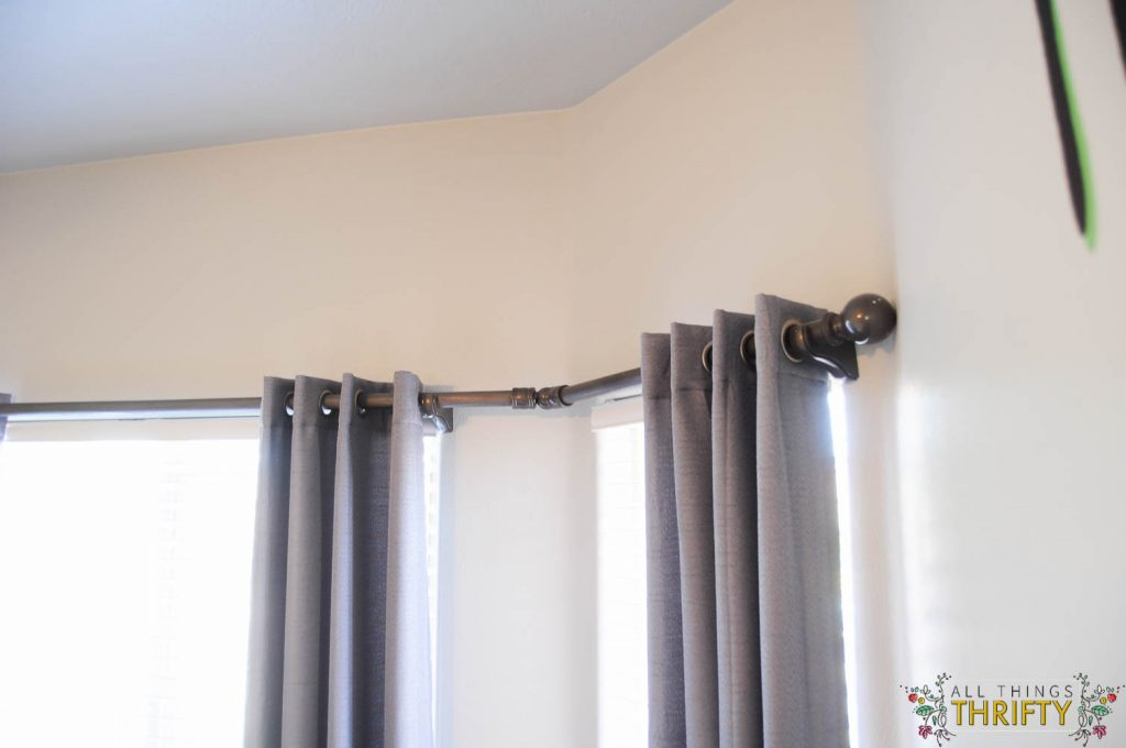 DIY Bay Window Curtain Rod