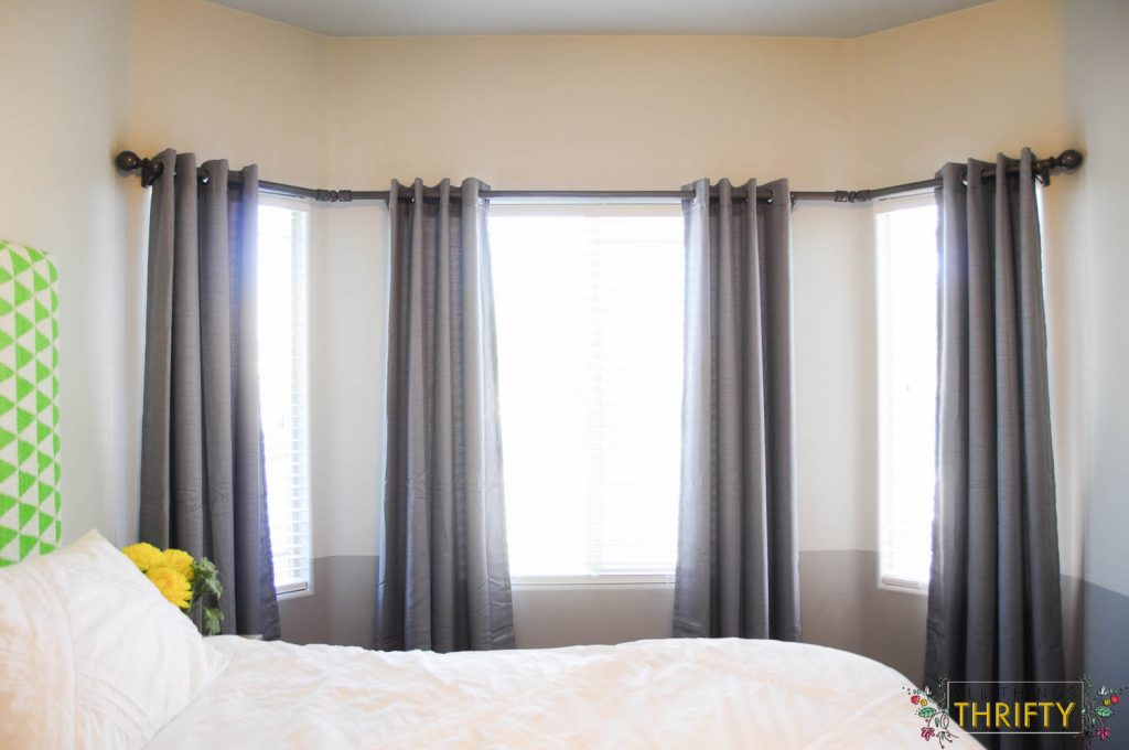 Diy Bay Window Curtain Rod All Things Thrifty