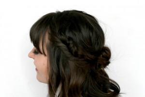 Fishtail Braid with Half Messy Bun by www.girllovesglam.com