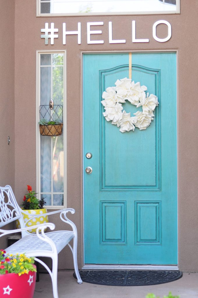Inviting Colorful front door