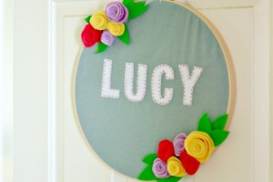 Baby Name Hoop Art
