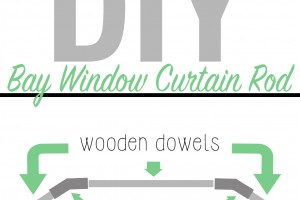 diy bay window curtain rod instructions