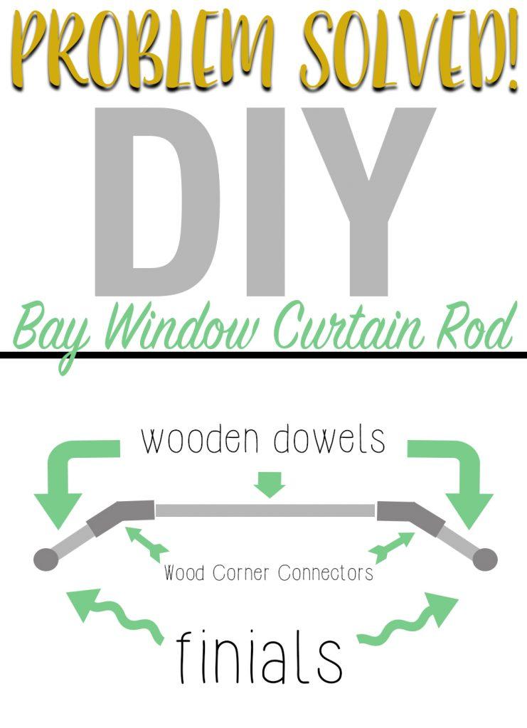 diy bay window curtain rod instructions