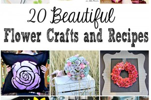 flower crafts and recipes