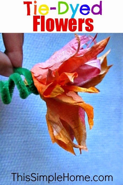 Flower crafts and recipes for How to make tie dye roses