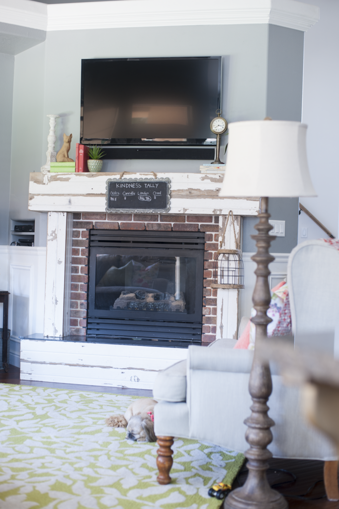 All Things Thrifty Fireplace Living Room Mantle