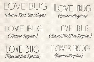 Font Favorites Lines Edition