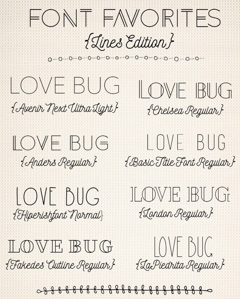 Font Favorites Lines Edition