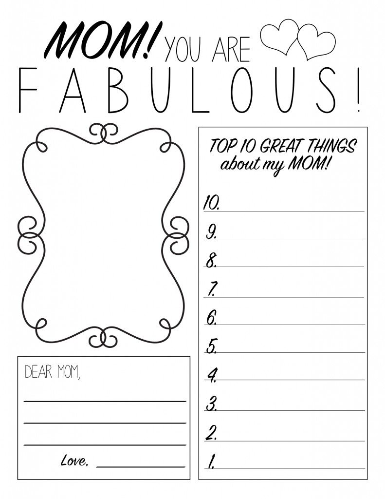 Mother's Day Printable