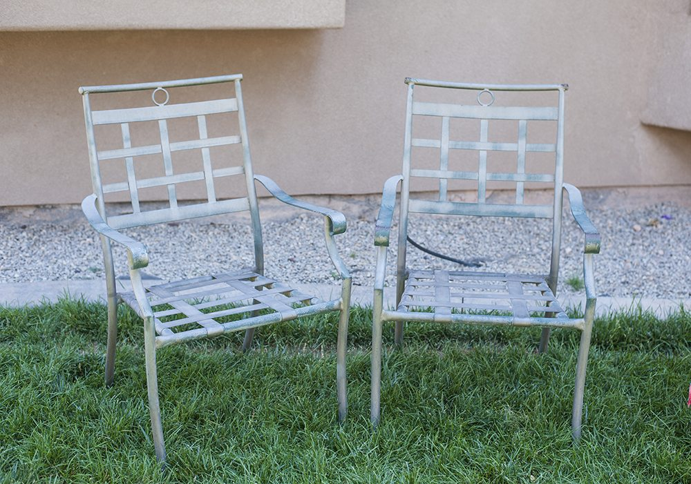Beautiful painting metal furniture Whenever you are painting outdoor wrought