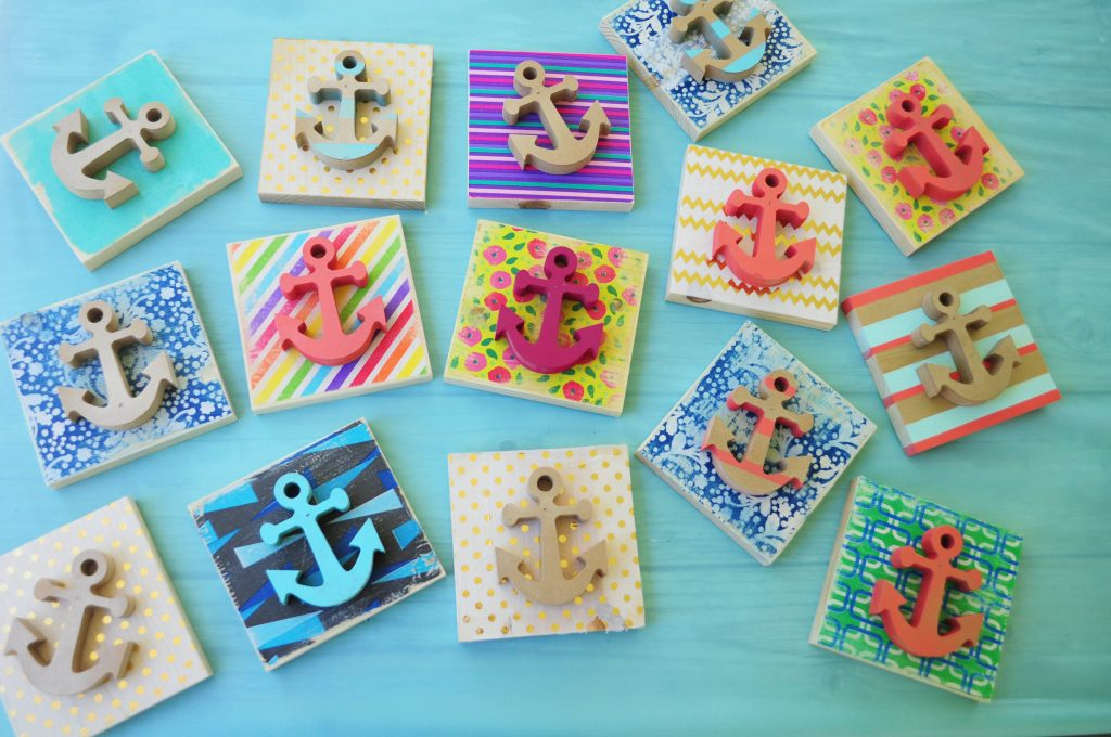 Simple anchor craft tutorial lds girls camp craft ideas for Fun crafts for girls