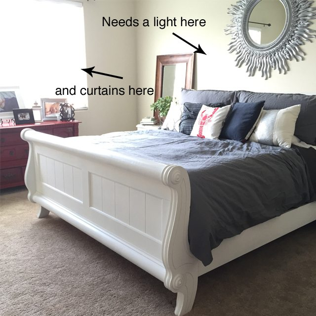 Master bedroom chalk paint makeover