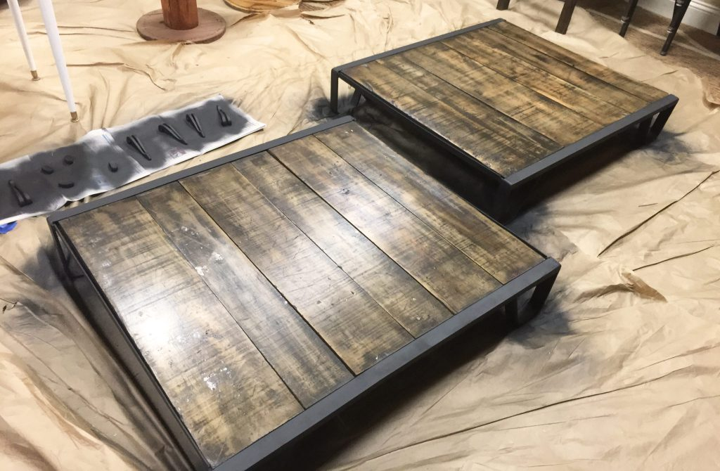 coffee table restoration hardware look alike