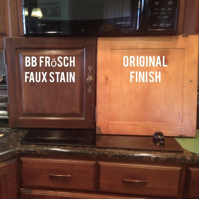Faux stain cabinets with BB Frösch