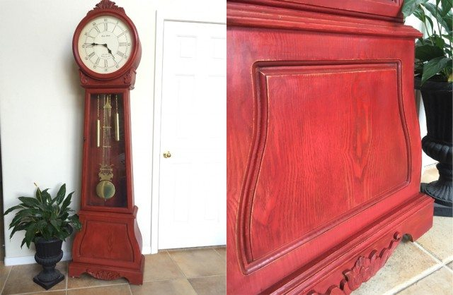 ATT Faux Stain Red Clock Combined