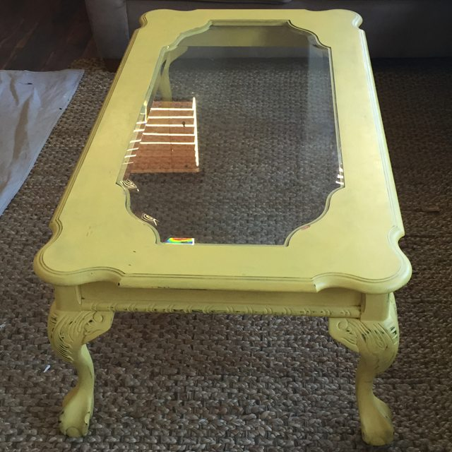How to paint glass table top with chalk paint p wall decal for What can you paint glass with