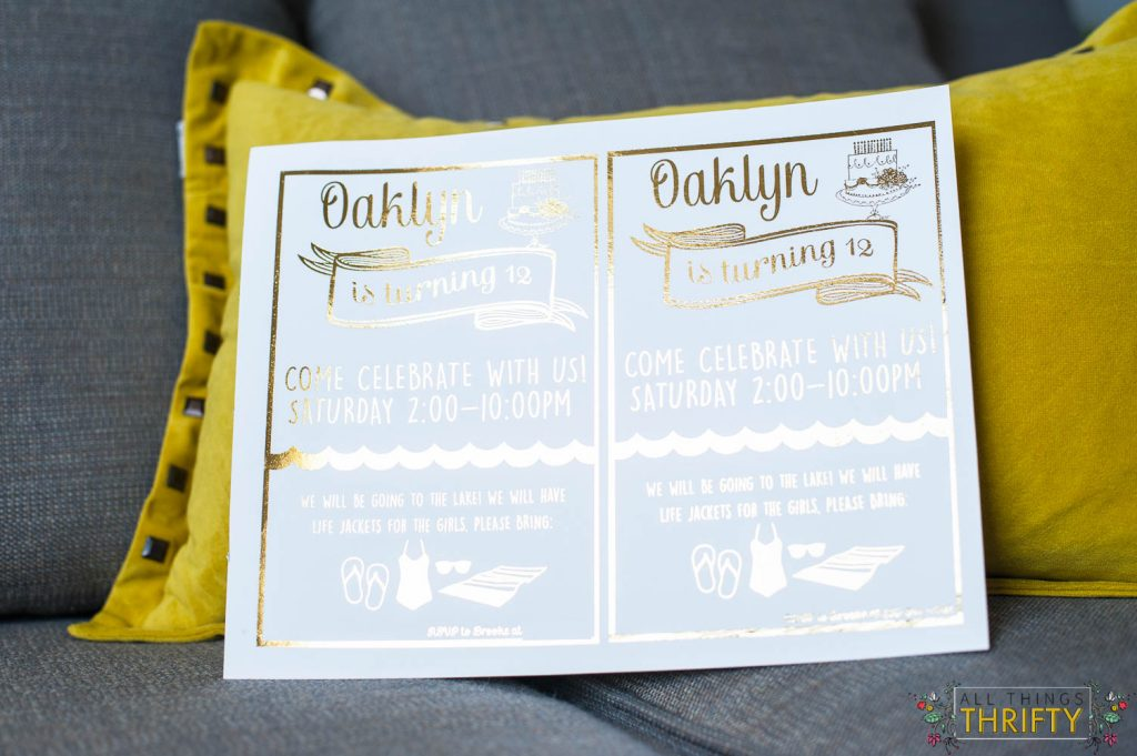 Gold Foil Birthday Invitations