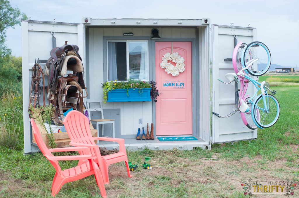 """Storage Container Cabin tiny storage container cabin called """"kustom cozy"""" 