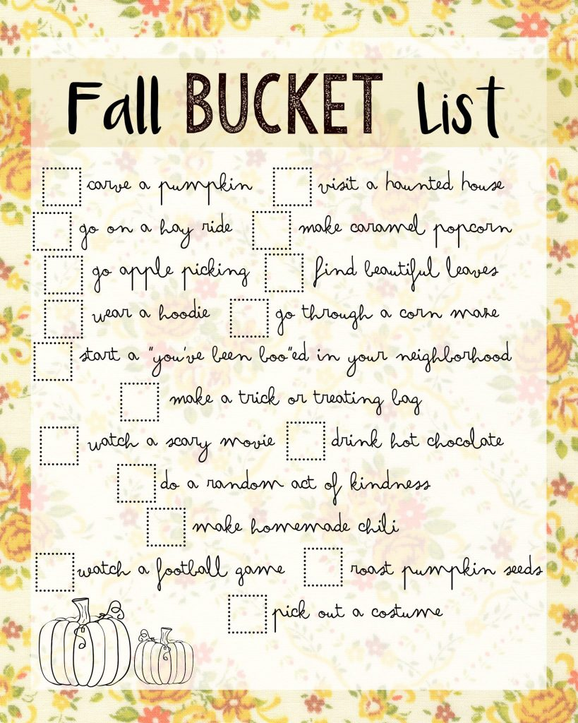 Fun Fall Bucket List Ideas
