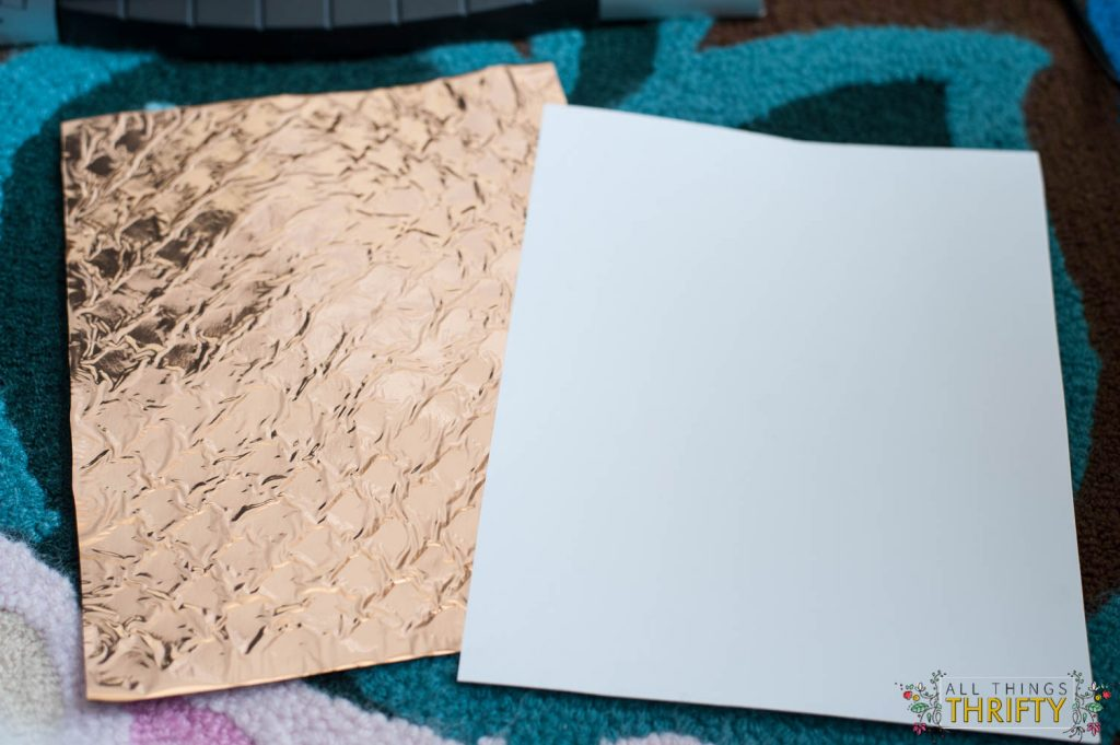gold foil tutorial with a regular laminator