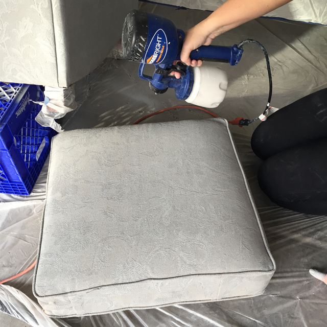 Sprayed Upholstery 7