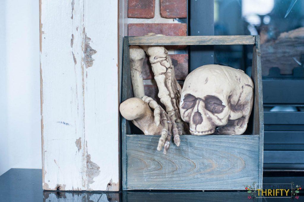 spare bones halloween mantle