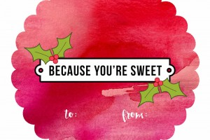 Free Printable Tags for Cookies or Sweets for Neighbor Gifts {homemade or NOT!}