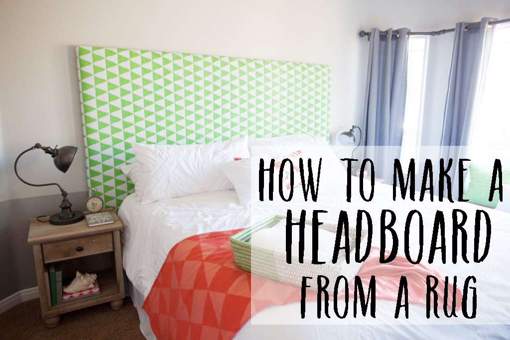 How to make a headboard with a rug - What to use instead of a headboard ...