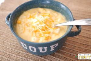 Cheesy Bacon Potato Corn Chowder Recipe