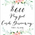 $600 Cash Paypal Giveaway
