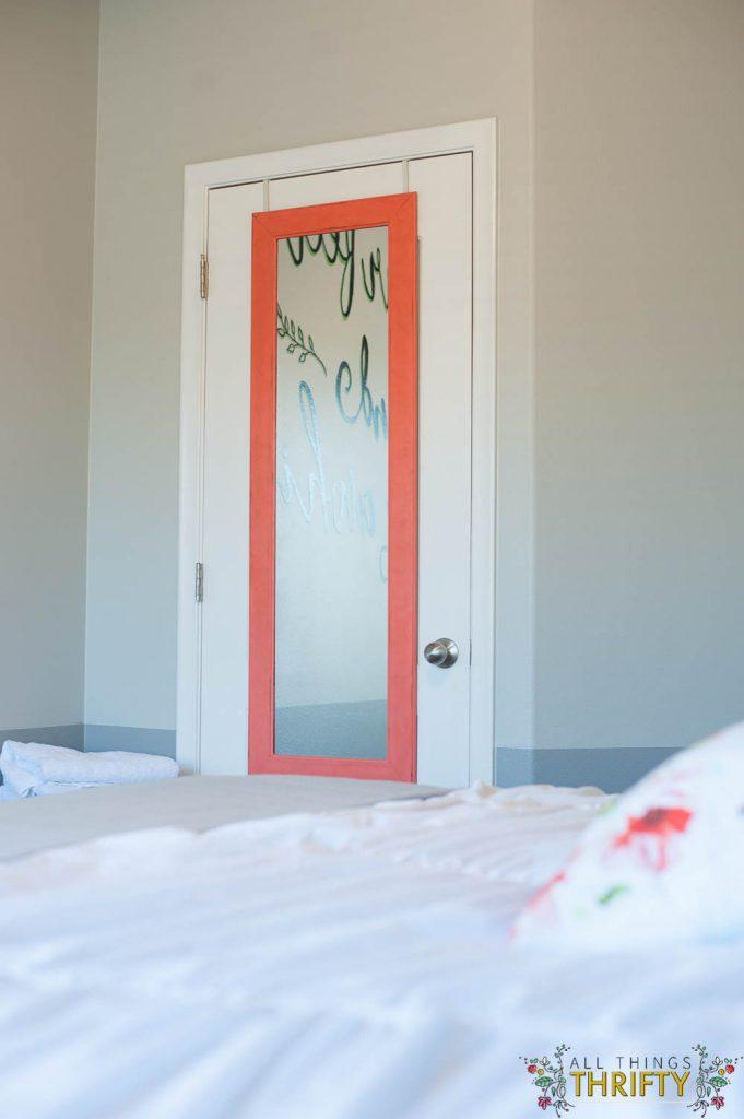 Guest Room Over the Door Mirror