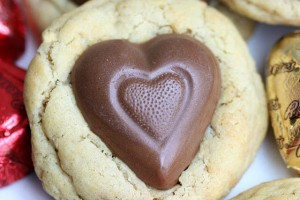 Reese's Peanut Butter Heart Cookies