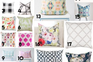 All Things COLOR: 19 Colorful pillows!