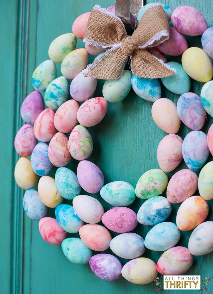 DIY Easter Egg Wreath Instructions