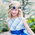Blue Plaid Easter Dress and Peach Flowing Swing Dress