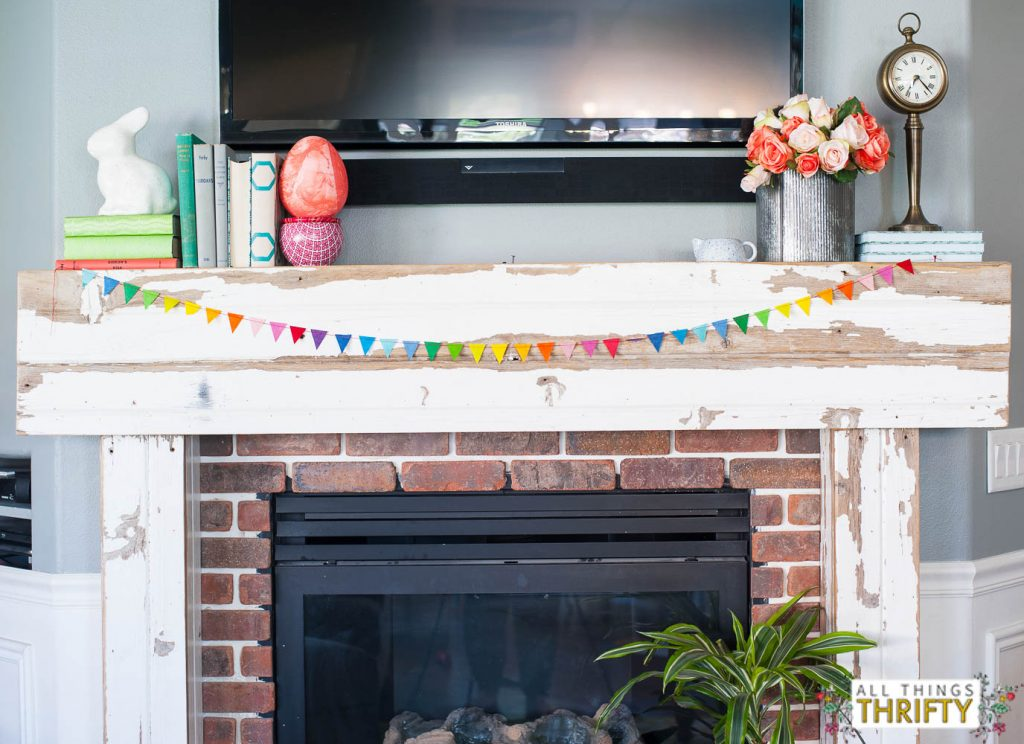 colorful Easter Mantle Ideas