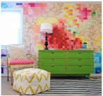 All Things COLOR: Pixelated Wall