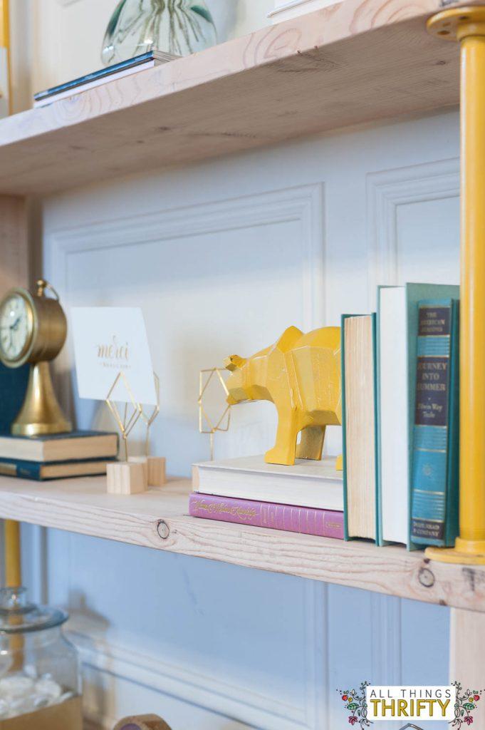 Blush, Navy, Yellow Master Bedroom Refresh-38