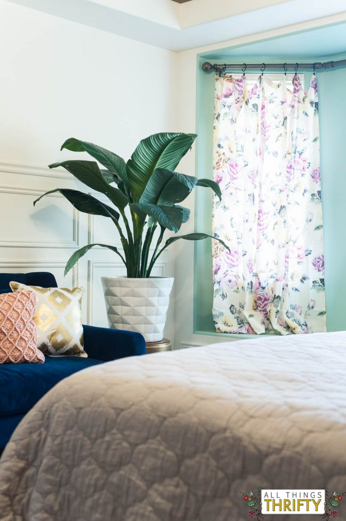 Navy Blush Yellow And Green Master Bedroom Refresh