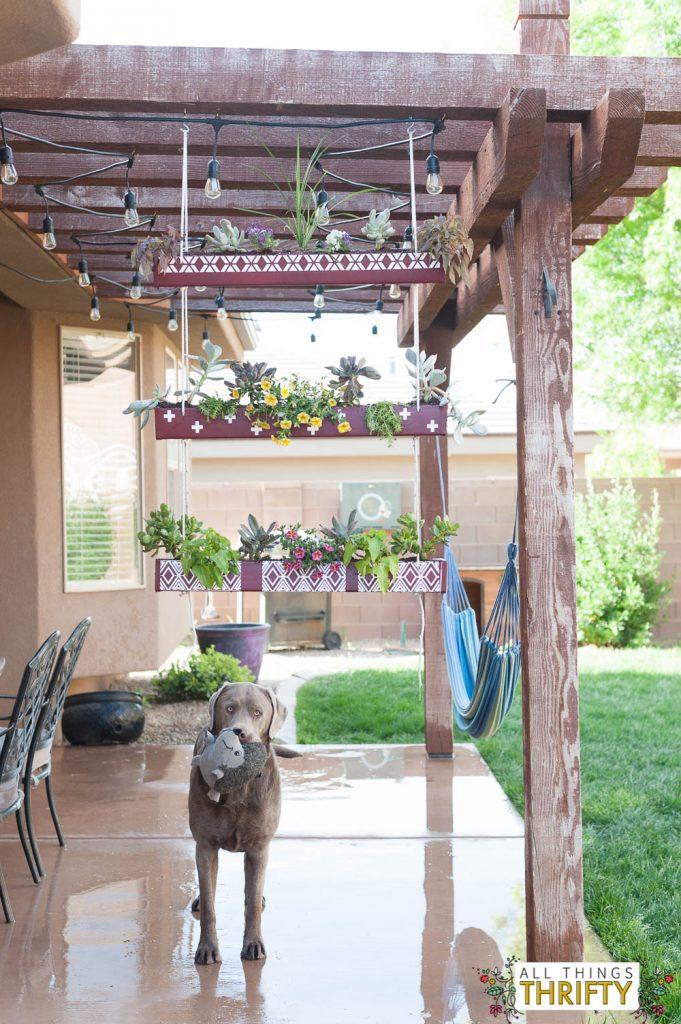 Hanging Rain Gutter Planter-11