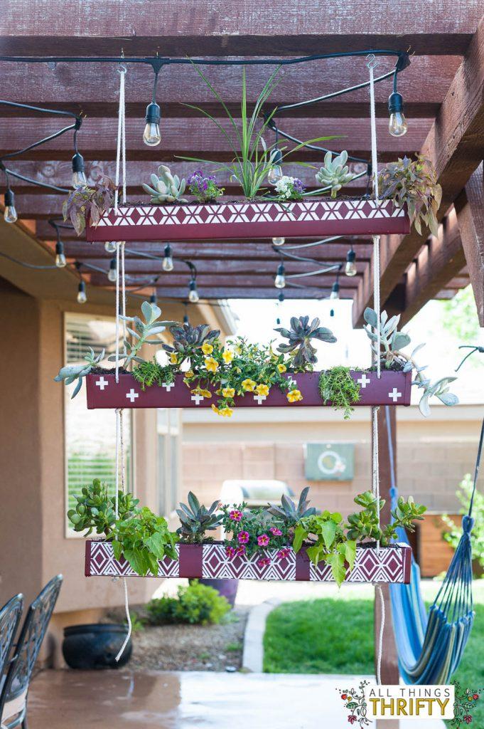 Hanging Rain Gutter Planter-15