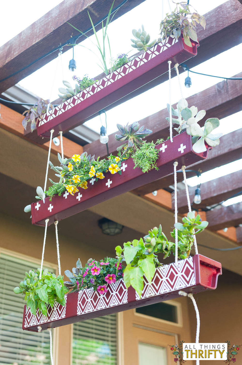 Rain Gutter Hanging Planter with Instructions | All Things ... | 1000 x 1503 jpeg 251kB