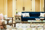 Blush, Yellow, Navy Living Room Space at SNAP for Rustoleum