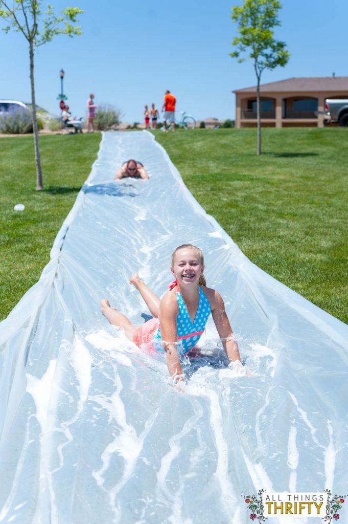 how to build a huge slip n slide fun for all ages. Black Bedroom Furniture Sets. Home Design Ideas