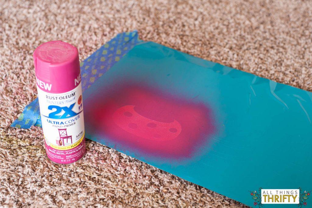 DIY Spray Paint art instructions